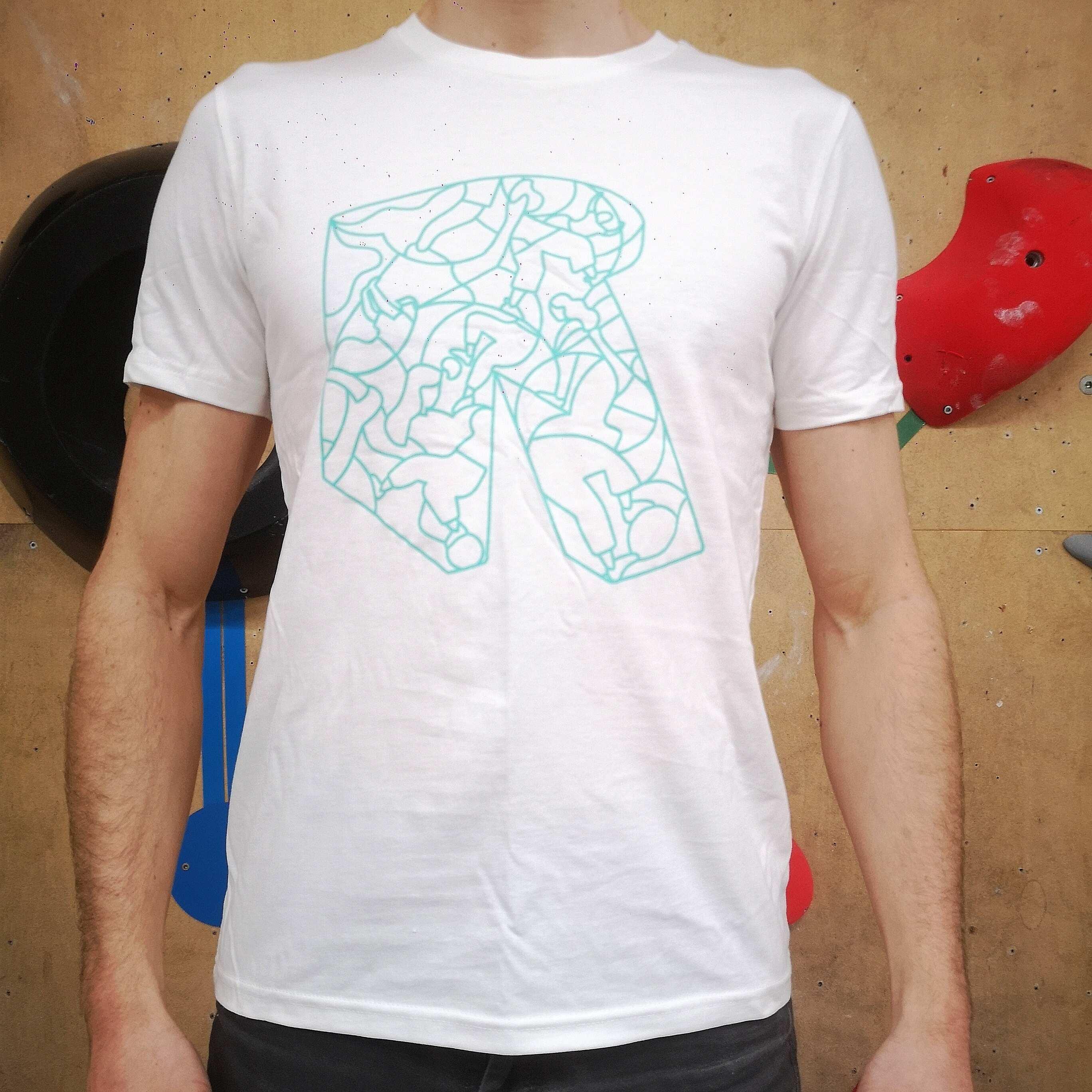 TS homme - Blanc R vert